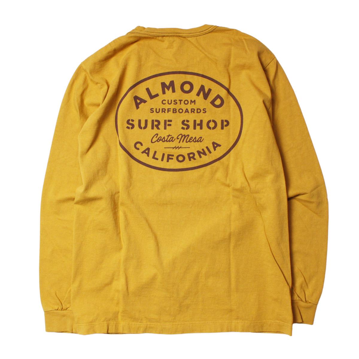 Almond Surf アーモンドサーフボードデザイン SURF SHOP L/S T-SHIRTS