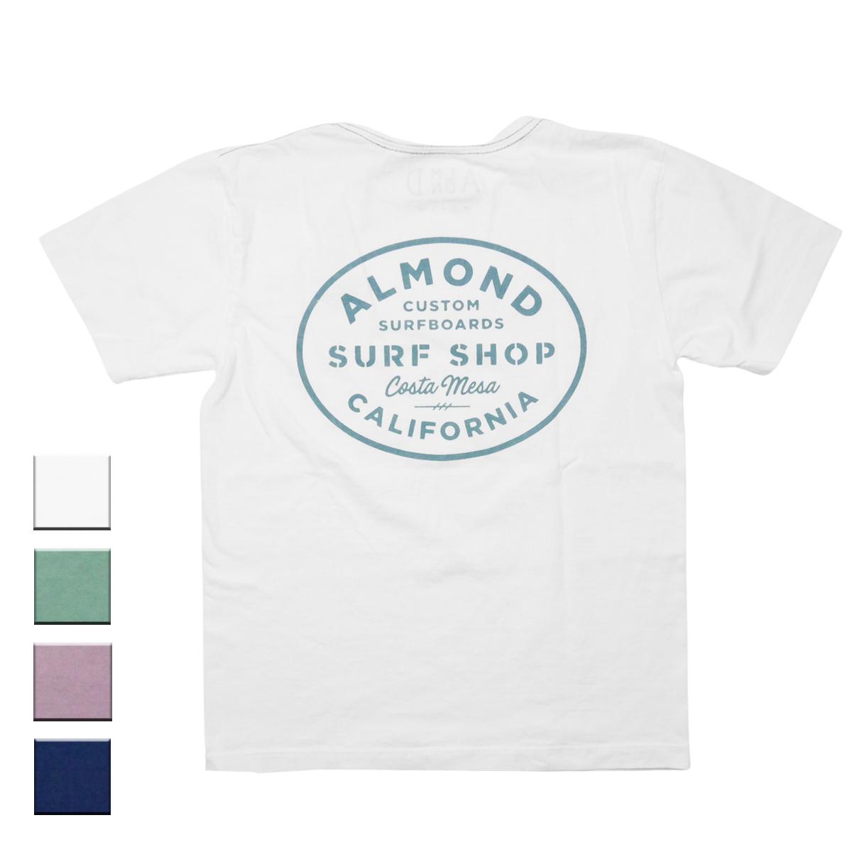 Almond Surf アーモンドサーフボードデザイン SURF SHOP S/S TEE