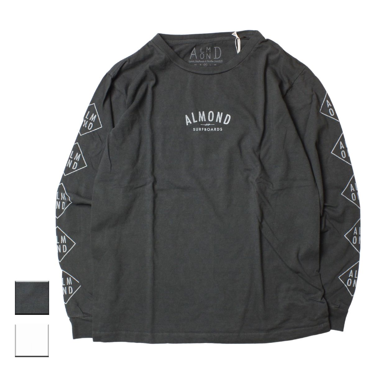 Almond Surf アーモンドサーフボードデザイン DIAMOND LOGO L/S T-SHIRTS