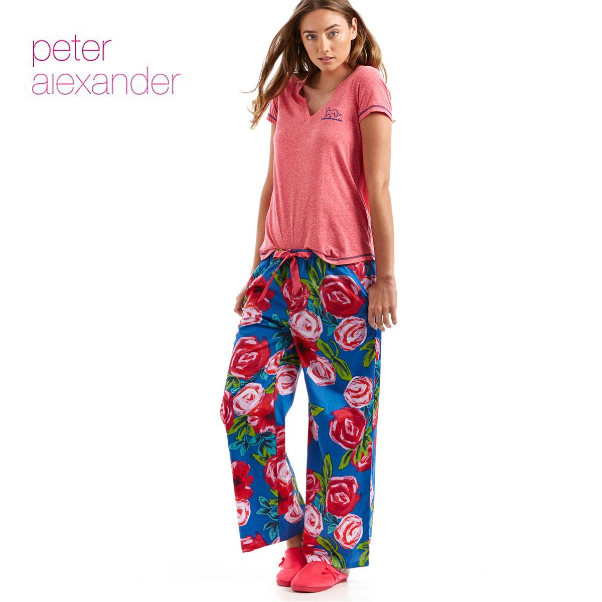 Peter Alexander ピーターアレキサンダー PRINTED ROSE WIDE LEG PJ PANTS
