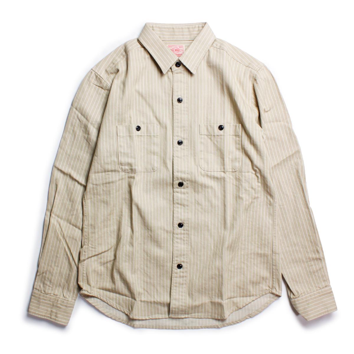 BIG MIKE ビッグマイク ストライプワークシャツ
