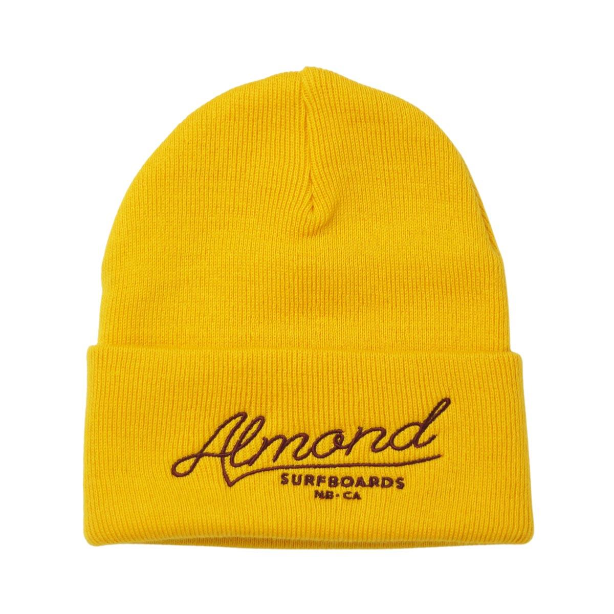 Almond Surf アーモンドサーフボードデザイン HICKORY SCRIPT BEANIE