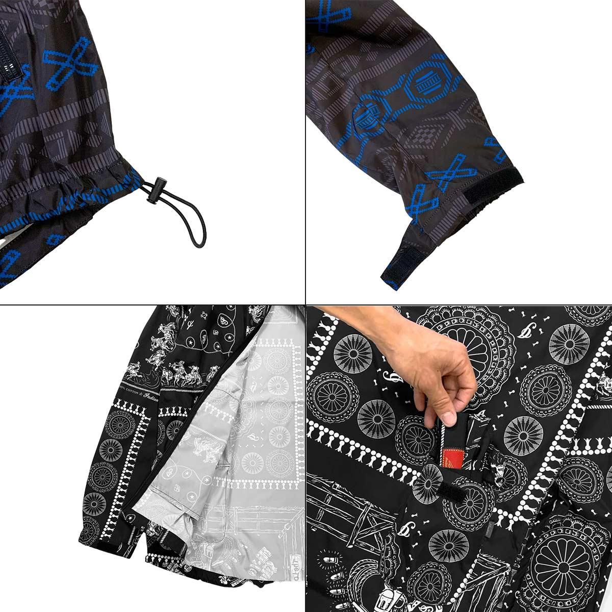 Indian インディアン Hybrid Zip-up Jacket