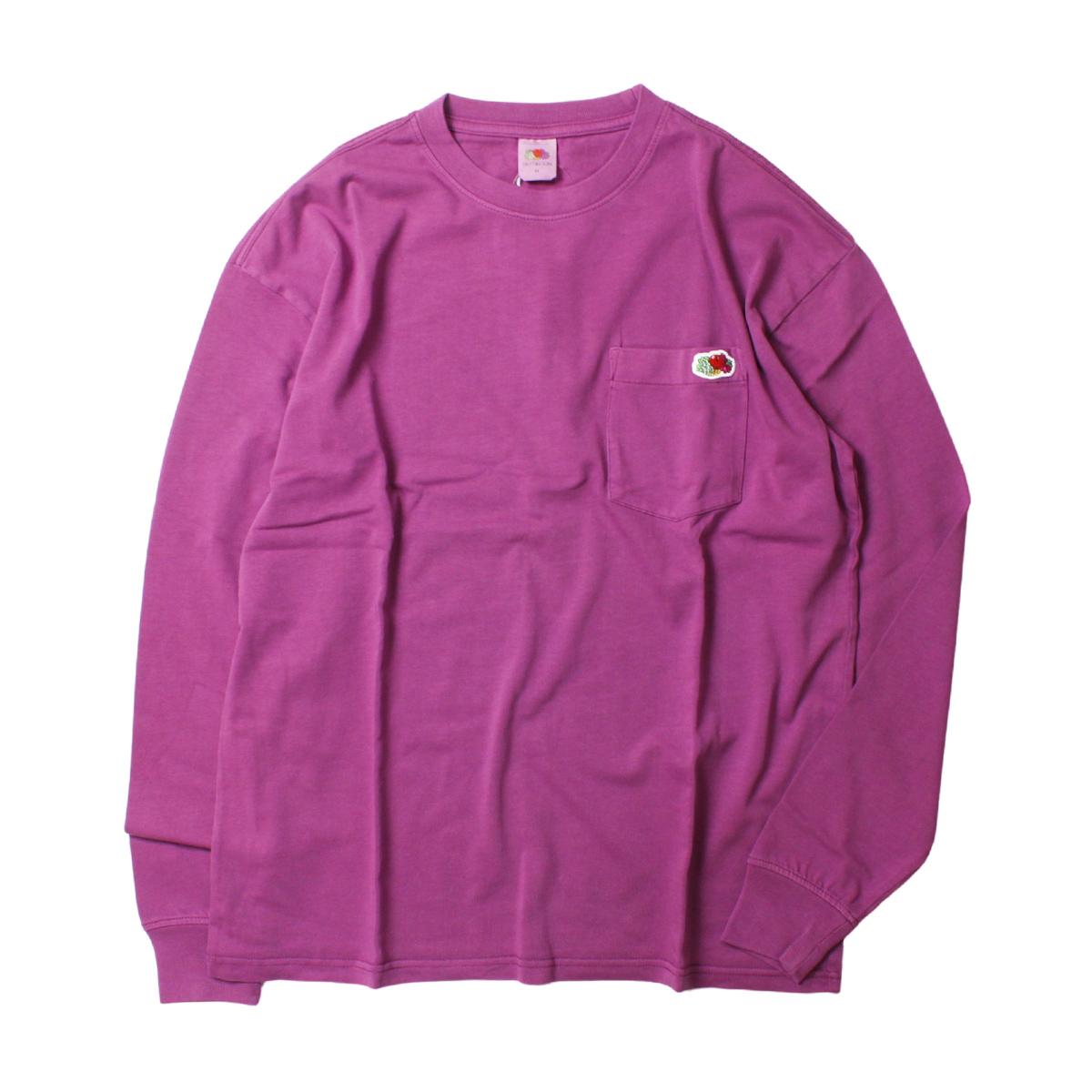 Fruit of the Loom フルーツオブザルーム FTL 米綿 製品染め ポケット付き L/S Tシャツ
