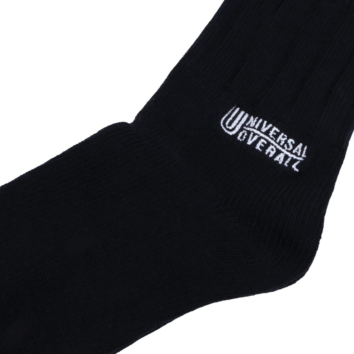UNIVERSAL OVERALL ユニバーサルオーバーオール レディース 綿太リブ刺しゅうクルー