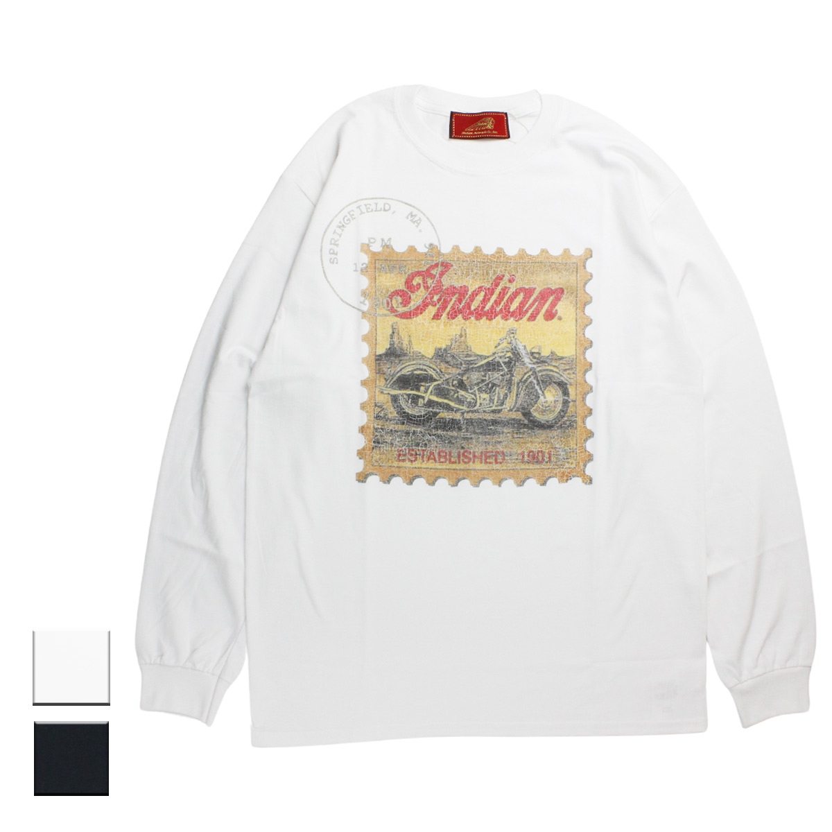 """Indian インディアン the Indian is Back L/S-T """"Stamp"""""""