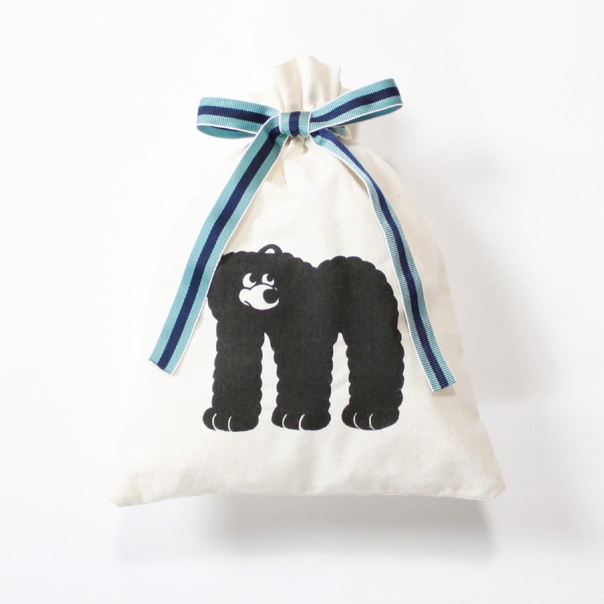 OFF オフ アルファベット巾着ポーチ(M) クマ 熊
