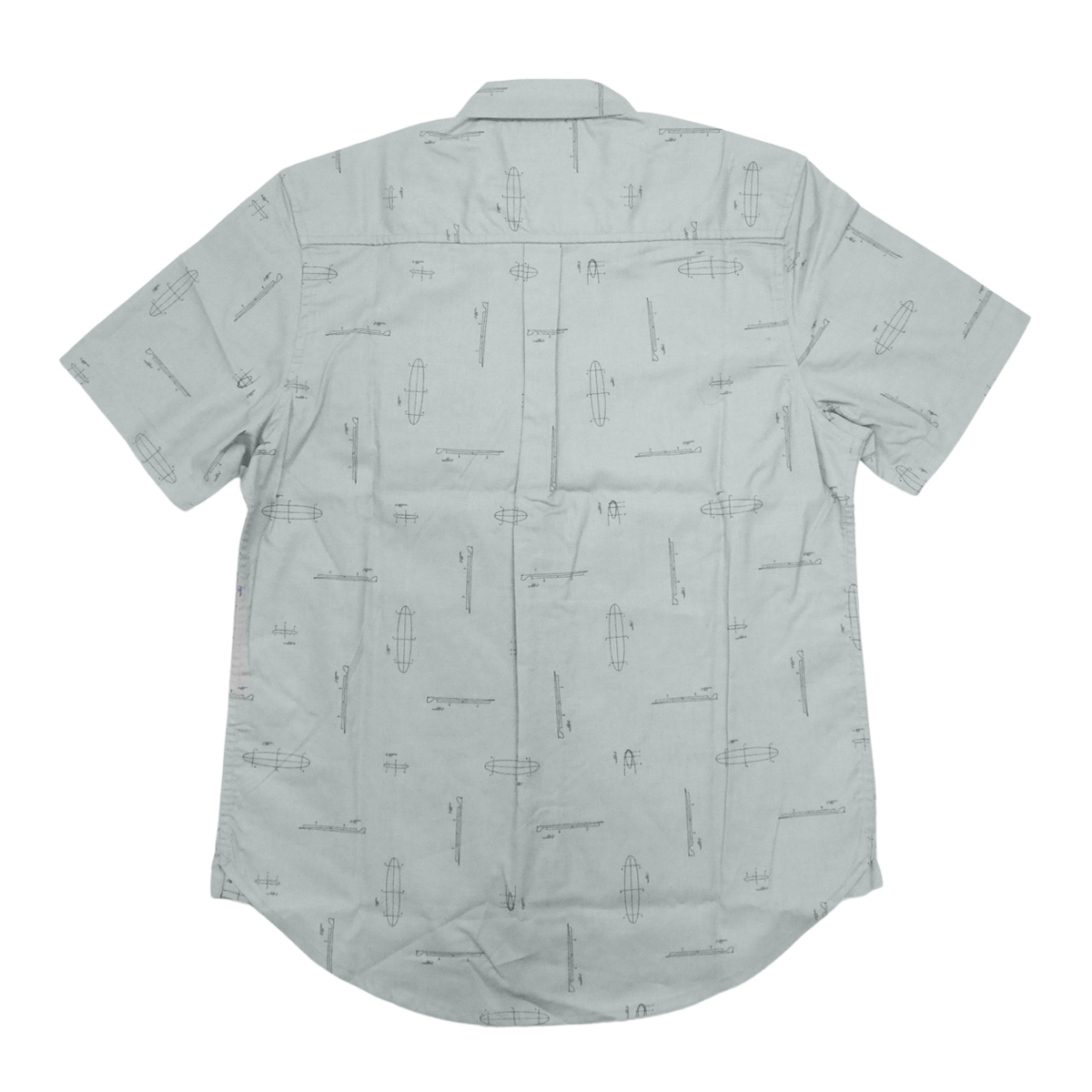 Almond Surf アーモンドサーフボードデザイン SURF THUMP WOVEN S/S SHIRTS