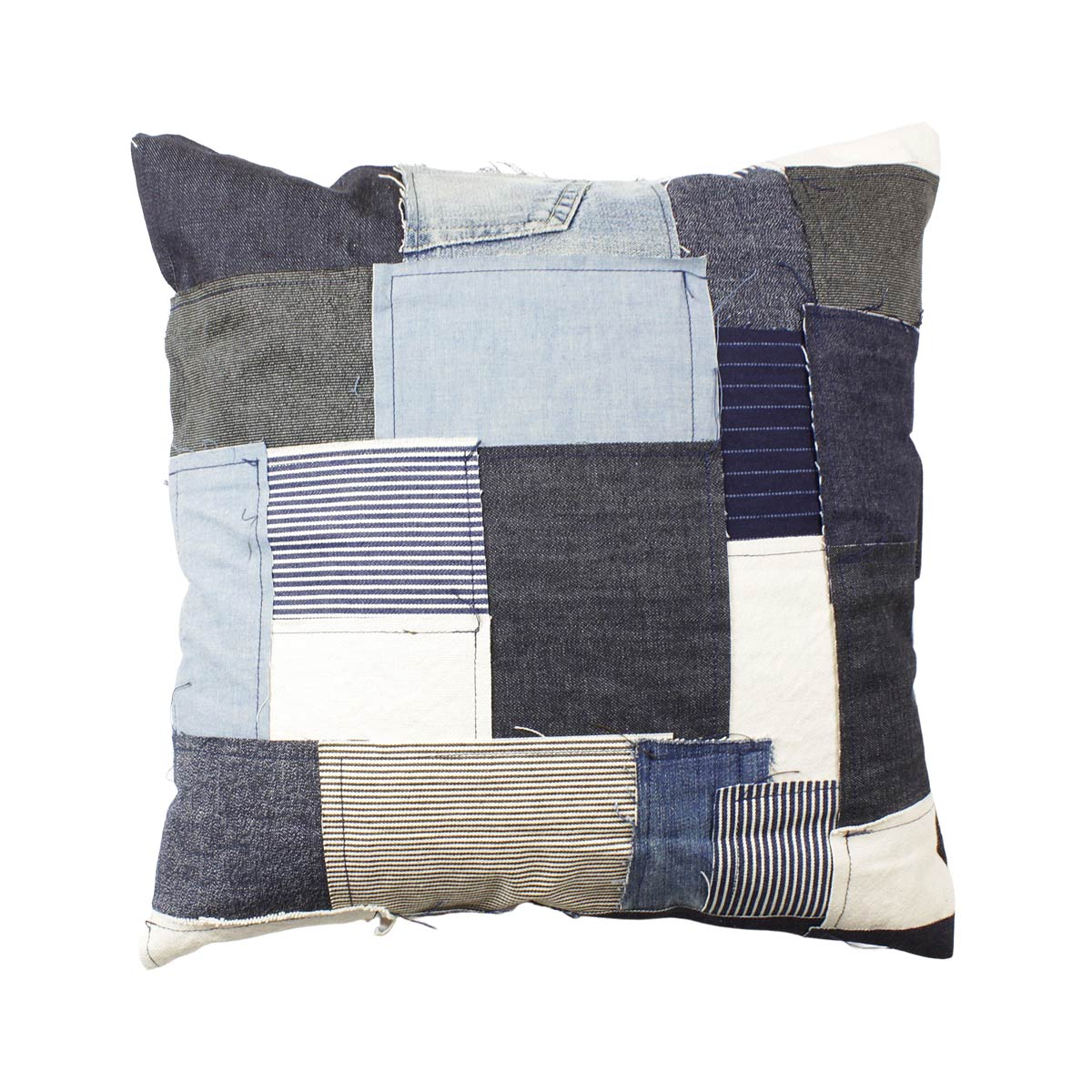 Reused Product リユースプロダクト reused patchwork cushion