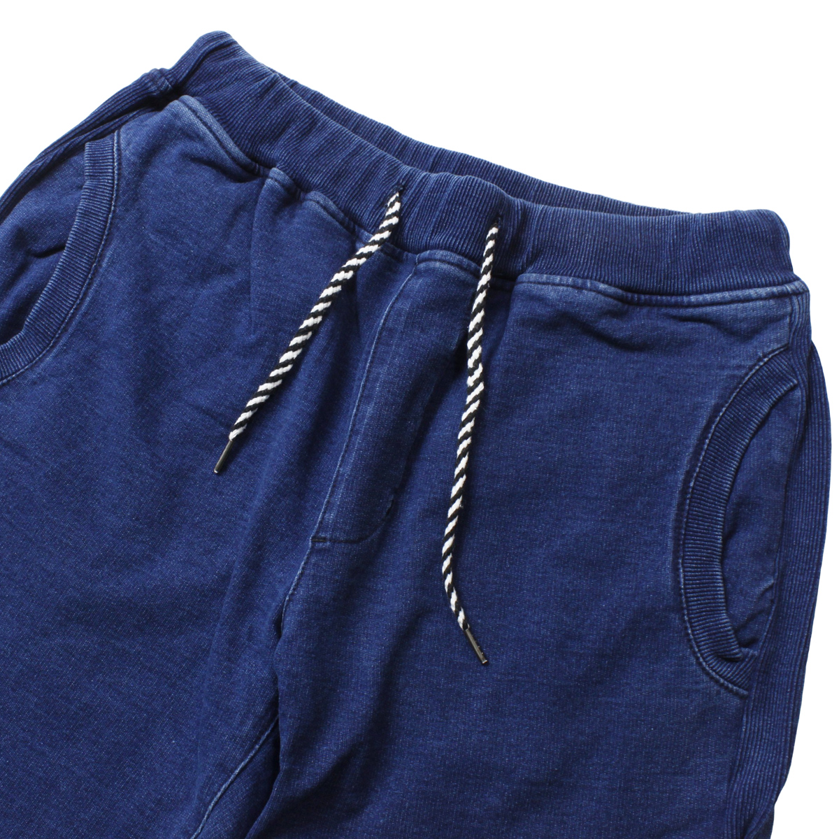 feel so easy good things for relaxing フィールソーイージー Indigo Stretch Sweat Side Rib Pants