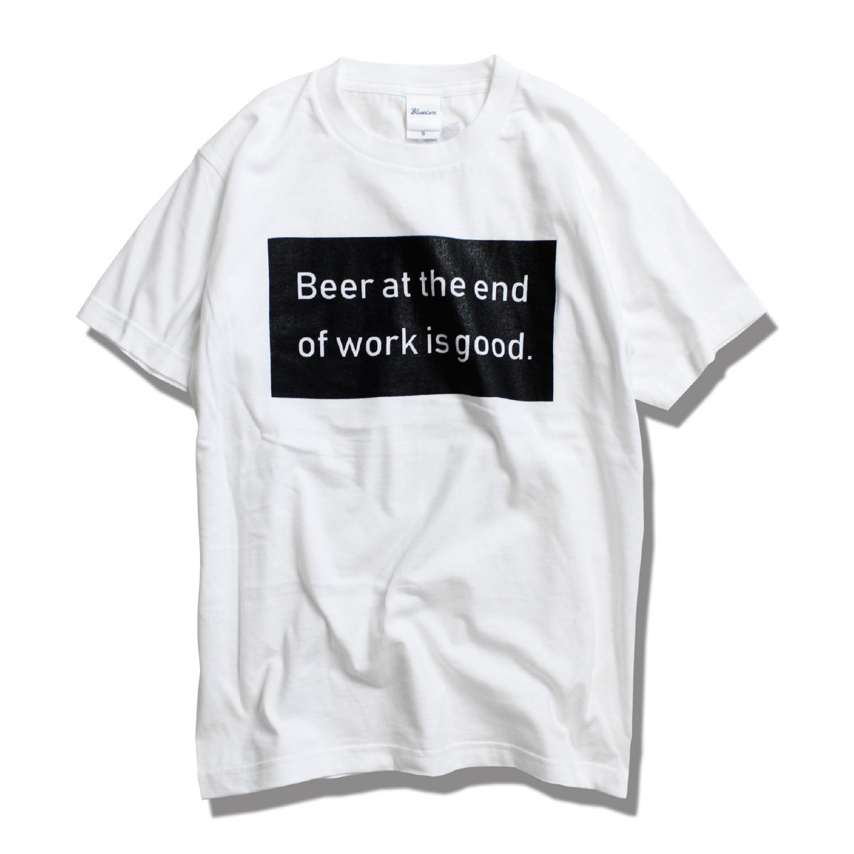 【62%OFF】Blueism ブルーイズム Beer Box Message T-shirt