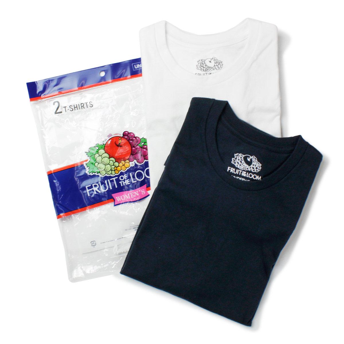 Fruit of the Loom フルーツオブザルーム クルーネックコットンTシャツ 2PACK