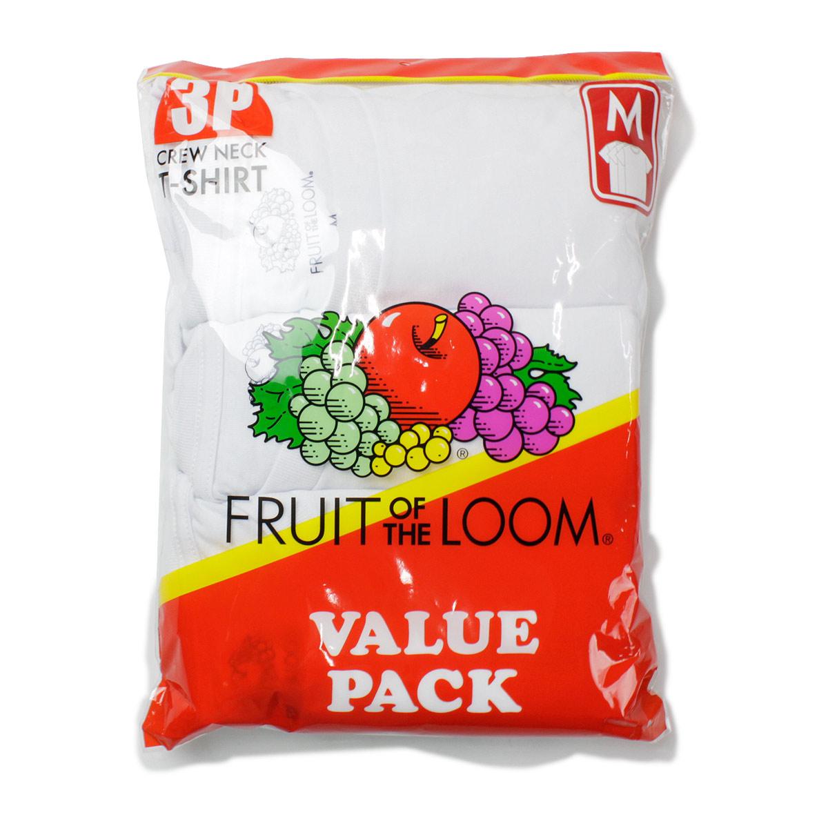 Fruit of the Loom フルーツオブザルーム 3PACK 天竺 TC Tシャツ