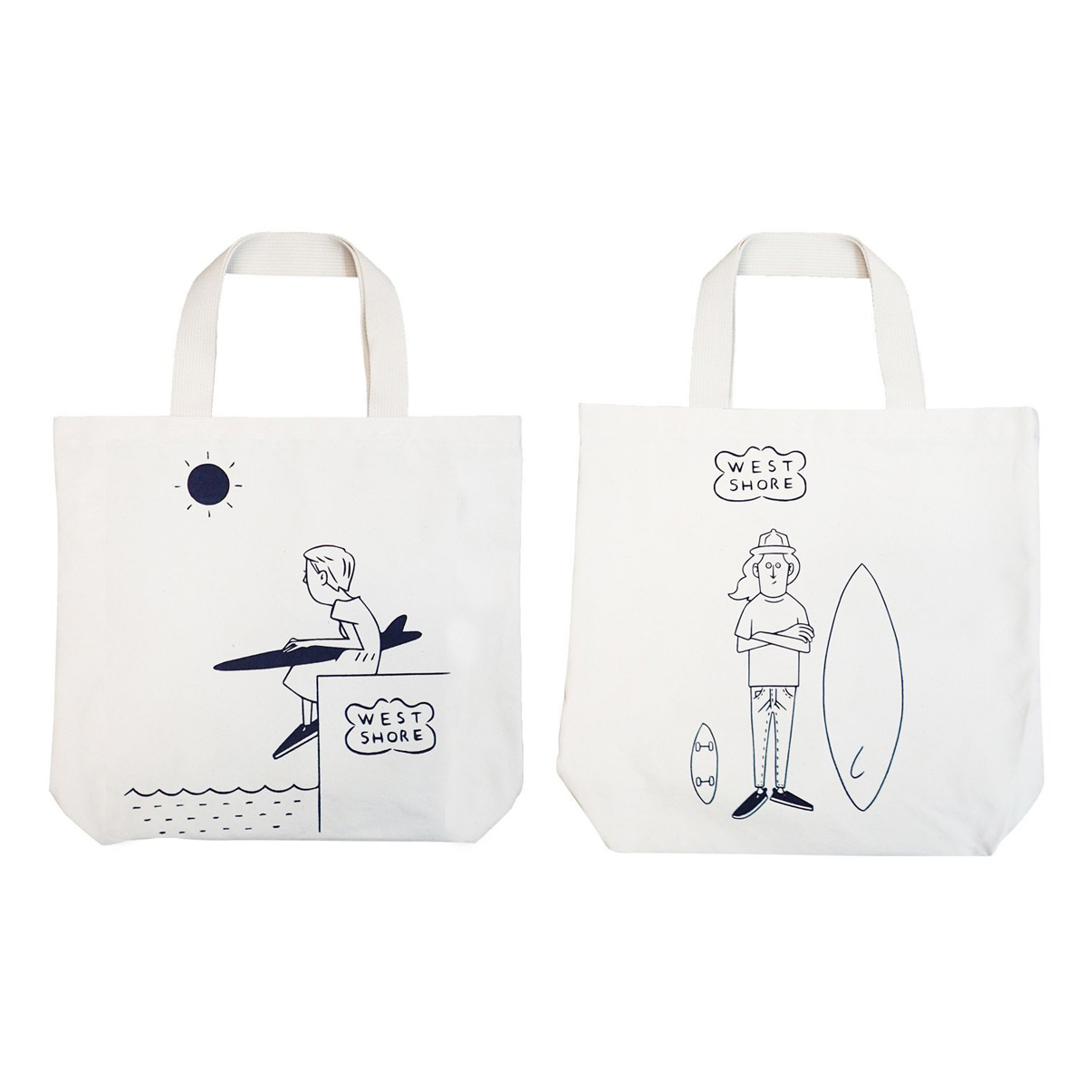 feel so easy/WEST SHORE X the HAMP works ザハンプワークス TOTE BAG Aタイプ