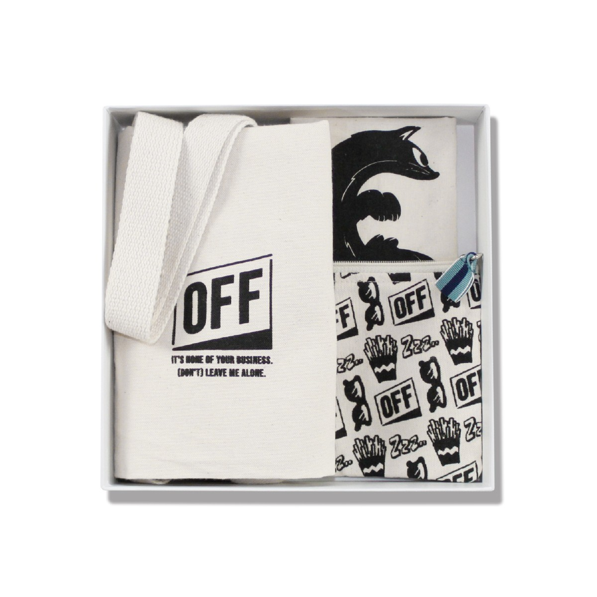 OFF オフ ギフト3点セット(巾着ポーチE/キツネtype)