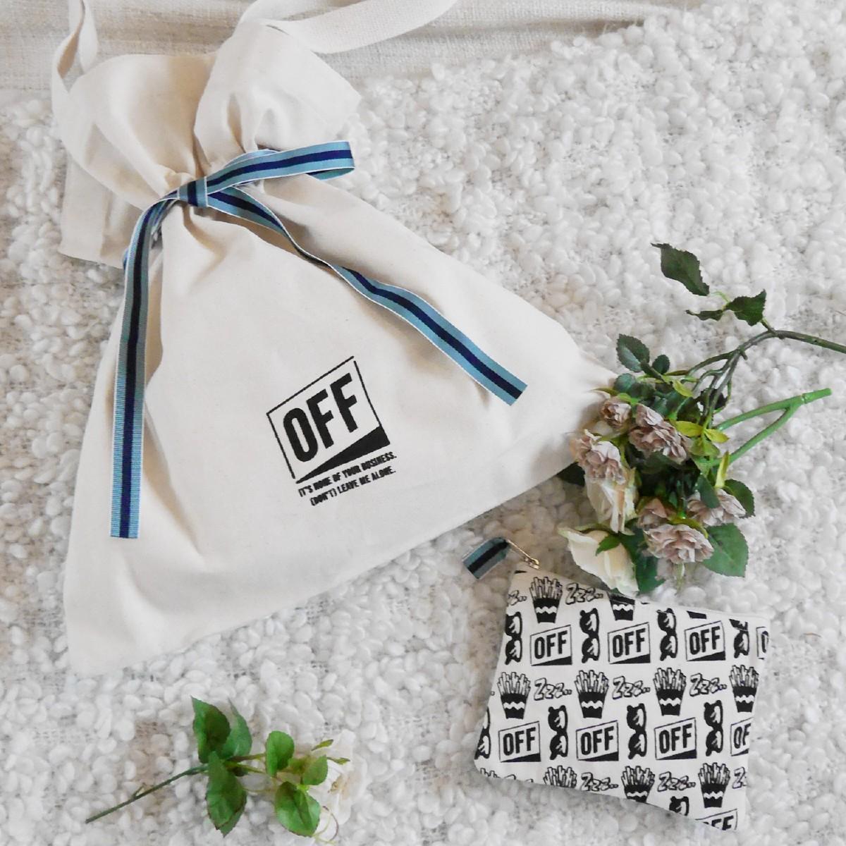 OFF オフ ギフト3点セット(巾着ポーチA/ネコtype)