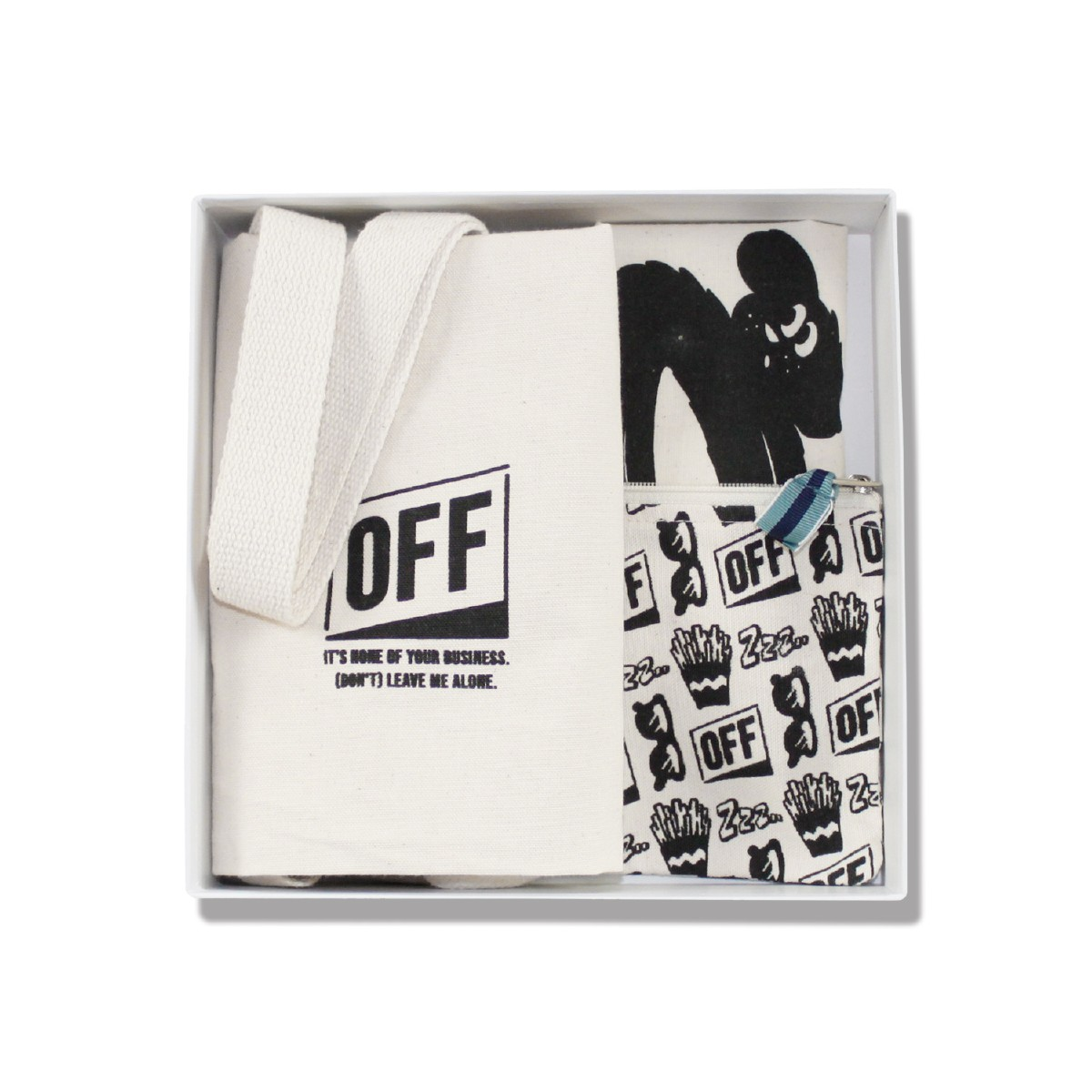 OFF オフ ギフト3点セット(巾着ポーチN/イヌtype)