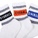 UNIVERSAL OVERALL ユニバーサルオーバーオール トップラインロゴ 3Pクォーターソックス