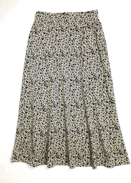 【artpepper】単色小花柄Aラインスカート