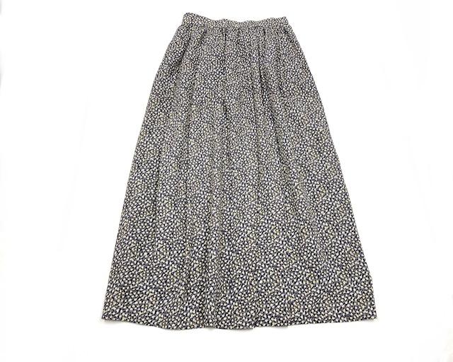 【steeplechase】小花柄ロングギャザースカート
