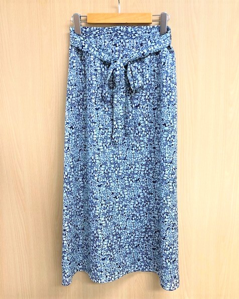 【steeplechase】 花柄Aラインスカート
