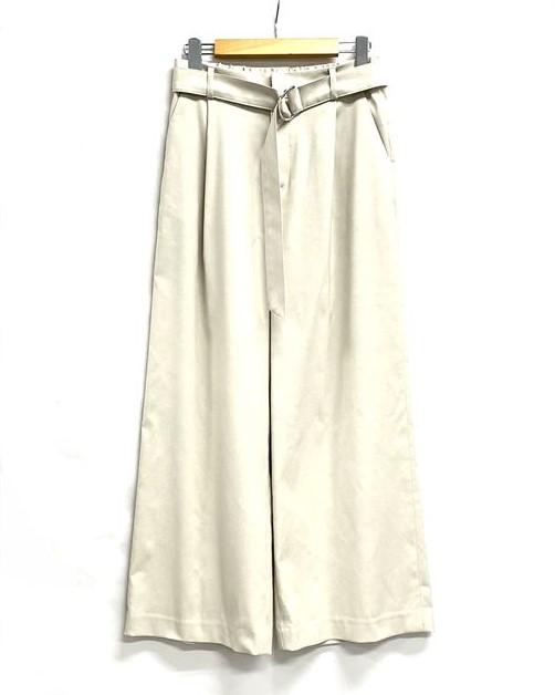綿麻オックスベルト付きパンツ