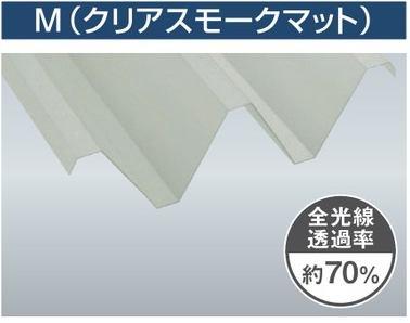 1.5mm厚 Y500(2山) クリアスモークマット 耐候熱線カットグレード タキロンシーアイ ポリカ折板 150cm〜1,200cm