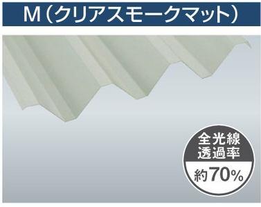 1.5mm厚 Y600(3山) クリアスモークマット 耐候熱線カットグレード タキロンシーアイ ポリカ折板 150cm〜1,200cm