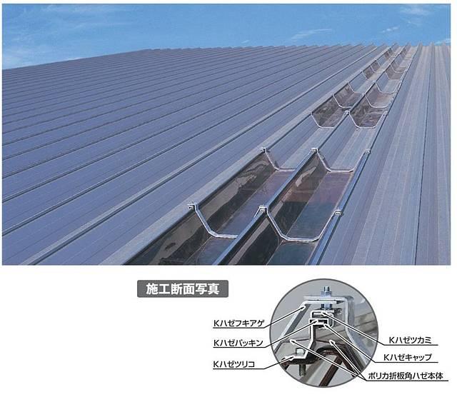 1.5mm厚 クリアスモーク ポリカ折板 角ハゼタイプ 耐候熱線カットグレード タキロンシーアイ 2m〜10m 受注生産