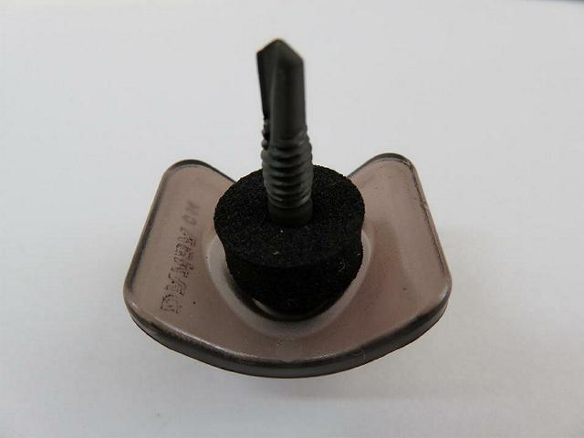 5×29 波座セット ポリカ ブロンズ色 鉄板小波用 鉄骨下地専用 六角頭 100セット/箱