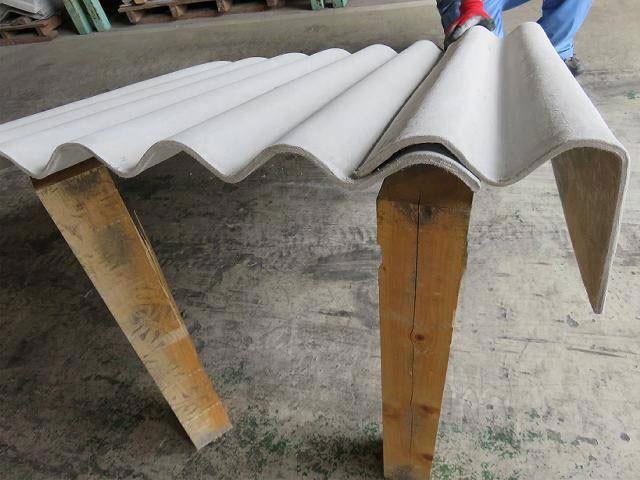 大波軒先曲げ板 C型 6尺 3寸勾配 右葺き用/左葺き用 配送