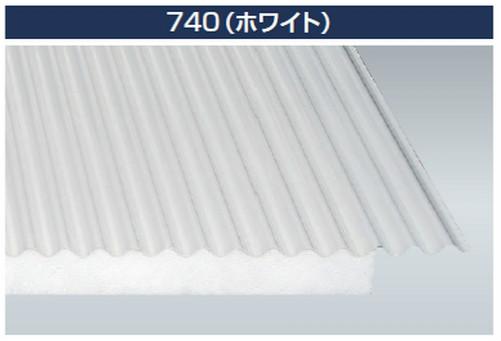 ポリカダンナミ 鉄板小波(32波) タキロンシーアイ 断熱資材 30mm厚、50mm厚 長さ:1,200mm〜8,100mm