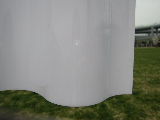 オーダーサイズ オパール スレート大波 130波 3枚〜 タキロンシーアイ ポリカ波板 2,740mm〜8,100mm