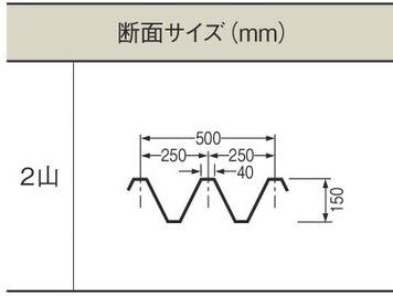 1.5mm厚 Y500(2山) 透明マット 耐候グレード タキロンシーアイ ポリカ折板 150cm〜1,200cm