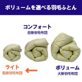 [氣代謝ふとん] 肌掛羽毛布団(ライト) セミダブルサイズ 【ウォッシャブル】