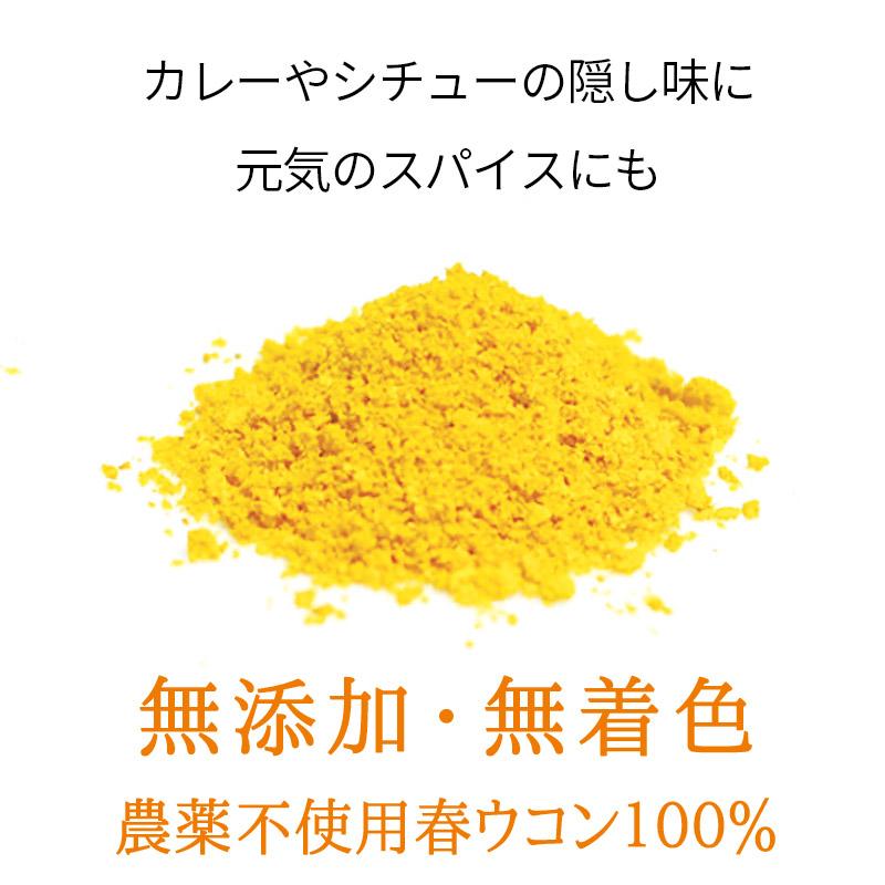 お野菜粉末 春うこん 15g 【無添加】 【ミモレ農園マルシェ】