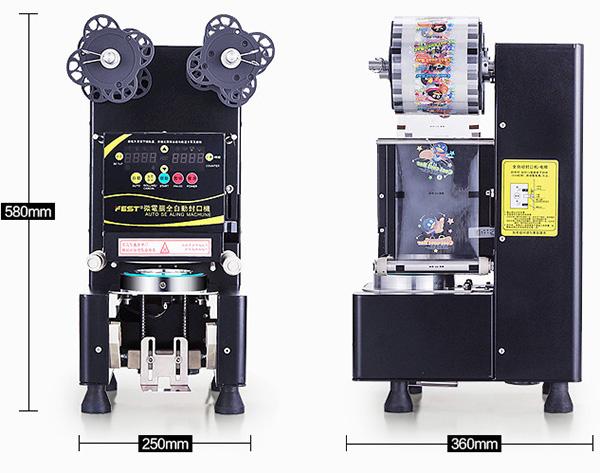 シーラーフィルムマシン 95mm口径用 黒
