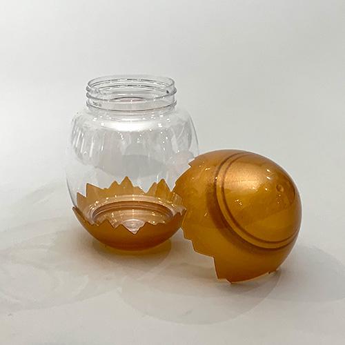 ドリンクボトル 380ml 卵型フタ付き(ゴールド) 100個