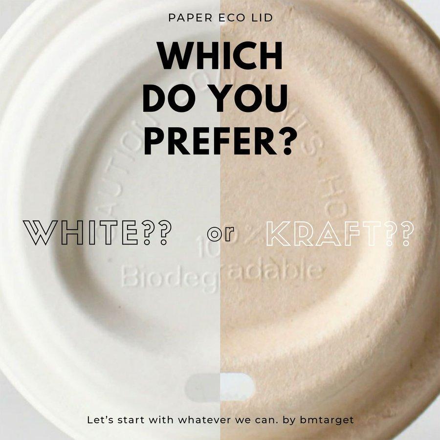 80mm口径 紙カップ対応ドリンキングECO紙フタ(白)1000個