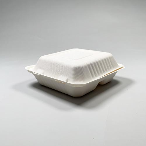 バガス コンパートメントクラムシェル(8×8-3区分) 480個