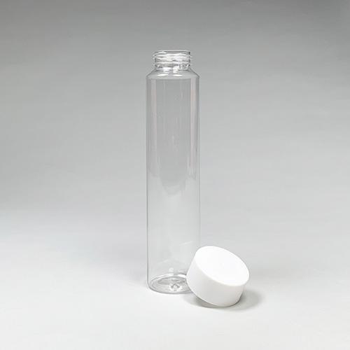 ドリンクボトル 500ml シリンダー 白フタ付き 100個