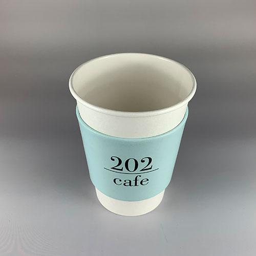 90mm口径 12オンス冷熱対応無地ホワイトカップ 1000個