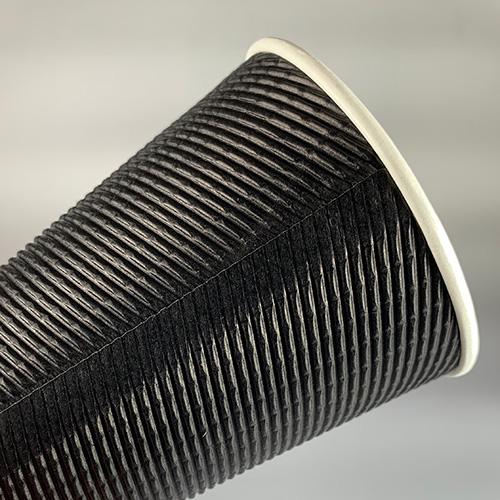 90mm口径 12オンスECOブラック断熱カップ 1000個