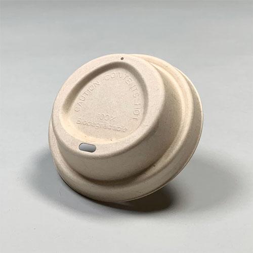 90mm口径 紙カップ対応ドリンキング紙ECOフタ(茶)1000個