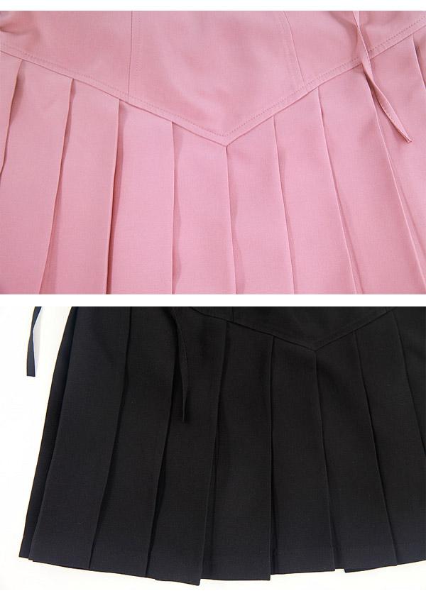 《新作》制服風プリーツ入りジャンパースカート-全2色-
