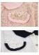 薔薇釦バイカラー半袖ニットトップス-全2色-