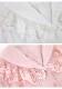 [残り1点]《新作》ストライプ柄BIGレース襟ブラウス-全2色-