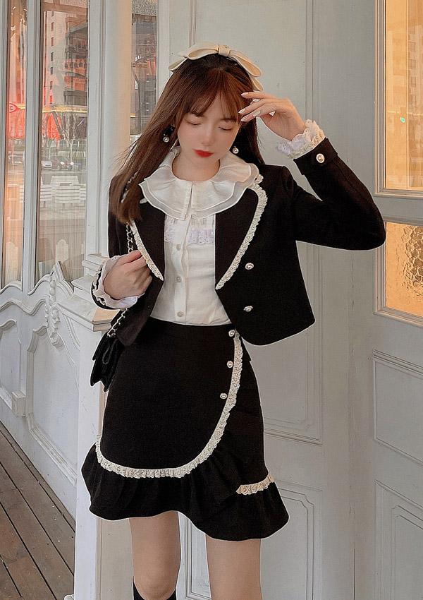 ★SALE/20%オフ★[残り3点]フレンチガーリージャケット×スカートSETUP-全1色-