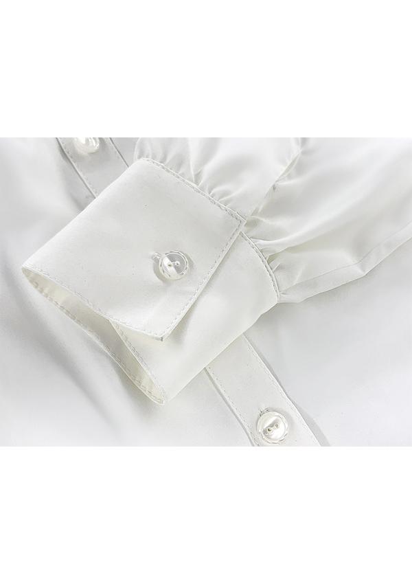 [残り4点]角襟ワンポケット定番シャツ-全1色-