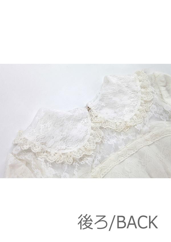 [予約]部分透けALLレースロングドレス-全1色-